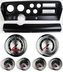 70-72 Gto Black Dash Carrier W/ Auto Meter American Muscle Gauges