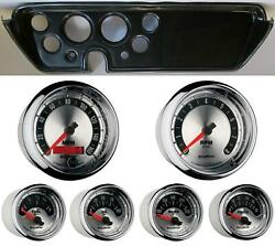67 Gto Carbon Dash Carrier W/ Auto Meter American Muscle Gauges