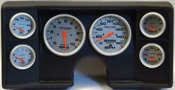 78-81 Chevy G Body Black Dash Carrier W/ Auto Meter Ultra Lite Electric Gauges