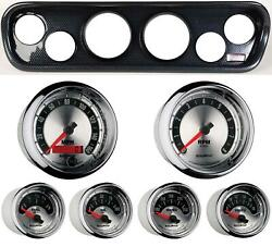 64-66 Mustang Carbon Dash Carrier W/ Auto Meter American Muscle Gauges