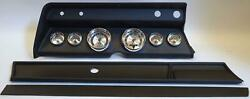 67 Chevelle Black Dash Carrier W/ Auto Meter American Muscle Gauges