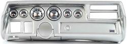70-72 Chevelle Sweep Silver Dash Carrier W/ Auto Meter American Muscle Gauges