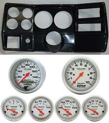 84-87 Chevy Truck Carbon Dash Carrier Auto Meter Ultra Lite Electric 5 Gauges