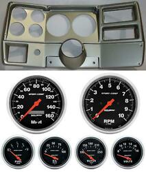 84-87 Chevy Truck Silver Dash Carrier Auto Meter Sport Comp Electric 5 Gauges