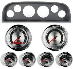 60-63 Chevy Truck Black Dash Carrier W/ Auto Meter American Muscle Gauges