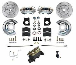 1964 65 66 Mustang Falcon Cross Drilled Front Disc Brake Conversion