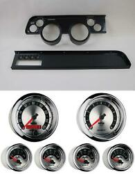 67-68 Cougar W/ac Carbon Dash Carrier W/ Auto Meter American Muscle Gauges