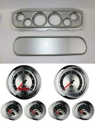 69-70 Cougar Silver Dash Carrier W/ Auto Meter American Muscle Gauges