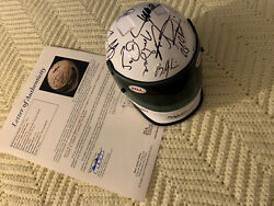 27 Winners Signed Mini Helmet New Indy Car Indianapolis 500 Unser Andretti Mears