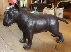 Large Bronze English Bull Terrier Dog Sculpture - 82cm Long x 47cm High