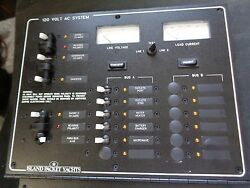 New Ip-550-044 Island Packet Yachts Electrical Panel With Volt And Amp Meter