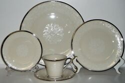 6 Lenox Fine China 5 Piece Place Settings - Moonspun Pattern - Never Been Used
