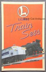 Original 1996 Lionel Model Train Sets Fold-out Brochure With Prices