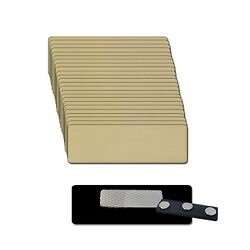 25 Blank 1 X 3 Gold Name Badge Kit A Tags 1/8 Corners And Magnetic Clear Labels