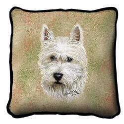 Westie West Highland Terrier Pillow Pure Country Weavers 17