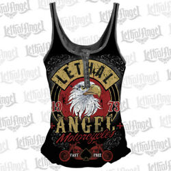 Lethal Angel Screamin Eagle Evil Knievel Sons Of Anarchy Eagle Tank Top 8 10-16
