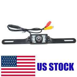 License Plate Ccd Ccd Car Rear View Camera Reverse Backup Parking Camera