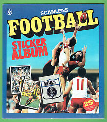 Dd7. Set Of 1983 Scanlens Vfl Unmounted Stickers And Album