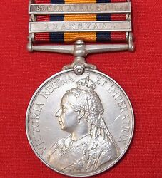 Vintage And Rare Pre Ww1 British Boer War Service Medal Captain New Zealand Rifles