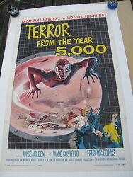 Terror From The Year 5000 Aip Original Us Film Poster 1958 1 Sheet On Linen