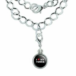 Silver Plated Bracelet with Antiqued Charm I Love My Dog S-Y