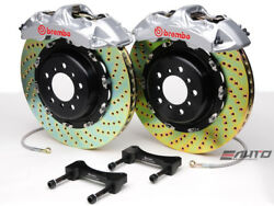 Brembo Front GT Brake 6pot Silver 405x34 Drill Rotor LX570 Land Crusier 08-15