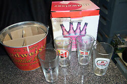 Budweiser Retro Gift Bucket Set New Never Been Used In Original Box Rjg