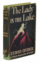 The Lady In The Lake Raymond Chandler First Edition 1st Printing 1943 Dj