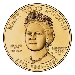 2010-W First Spouse Gold UNC Mary Todd Lincoln