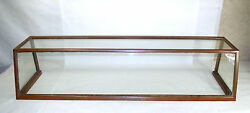 Antique General Store Copper Sheathed Wood And Glass Display Case Oblong 00401010
