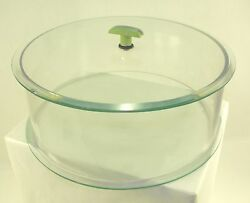 Soda Fountain General Store Mid Century Vintage 40's Glass Cake Plate Chipped