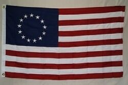 6x10 Embroidered Sewn Betsy Ross 600d Nylon Flag 6and039x10and039