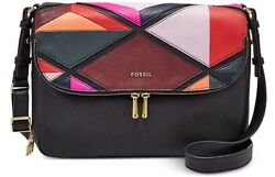 New Fossil Women Preston Leather Flap Shoulder Crossbody Bags Variety Colors