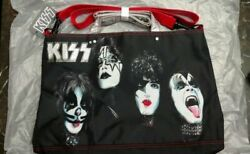 KISS Painted Faces Rock amp; Roll Messenger Backpack Tote Bag $30.00