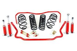 1964-66 Chevelle Umi Performance Suspension Kit Handling 2 Drop Red Stage 1