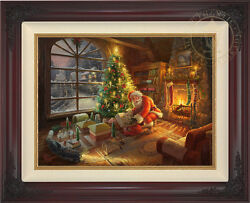 Thomas Kinkade Studios Santaand039s Special Delivery 18 X 24 Le G/p Canvas Framed