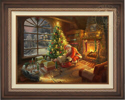 Thomas Kinkade Lionel Santa's Special Delivery 25.5 X 34 Le S/n Canvas Framed