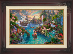 Thomas Kinkade Studios Peter Panand039s Never Land 18 X 27 Le G/p Canvas Framed