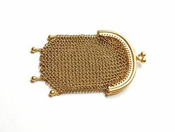Gold Coin Purse Antique 9 Carat Yellow Gold 19.3 Grams Year 1917
