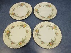 Lot Of 4 Vintage Minton England York Luncheon Plates 9 Discontinued