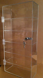 Usa-acrylic Countertop Display Case Or Wall Mount 12x 6.5 X 23.5loc Show Case