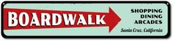 Boardwalk Sign Personalized Beach Location Sign Shopping Dining Aluminum $35.99