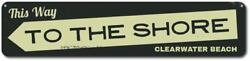 Arrow This Way To The Shore Sign Personalized Beach House Sign ENSA1001636 $35.99