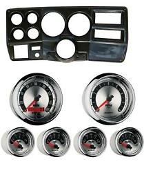 84-87 Chevy Truck Carbon Dash Carrier W/ Auto Meter American Muscle Gauges 5