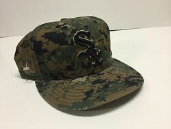 New Era Chicago White Sox Mbl Fitted Hat Sz 7 1/2 Special Camo Edition New
