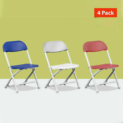 Kids Plastic Folding Chairs Preschool Daycare Playroom Childrenand039s Chair 4 Pack