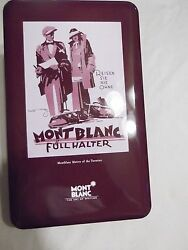 Twenties Collectible Mont Blanctin Box W/booklet Display Board For Two Pens