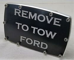 Remove To Ford, Arched With Screws, Billet Aluminum Trailer Hitch Plug Cover,4x6