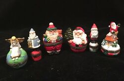 Set Of 6 Midwest Of Cannon Falls Christmas Trinket Boxes