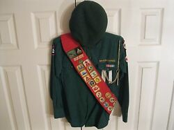 Heavily Decorated Canadian Boy Scouts Uniform Shirt With Badges And Beret